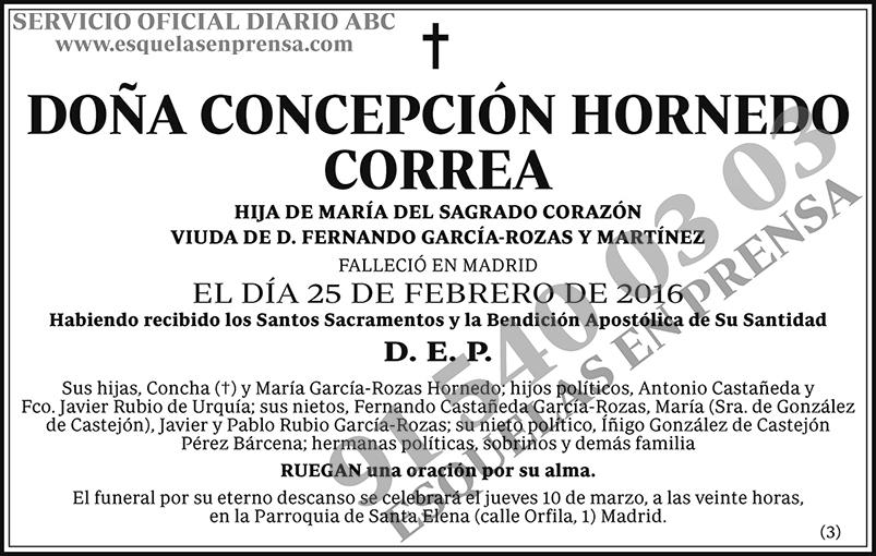 Concepción Hornedo Correa